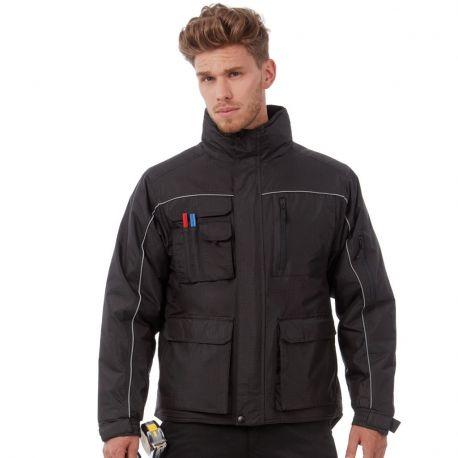 Veste de travail chaude, imperméable et coupe-vent, 12 poches, 230 g/m²