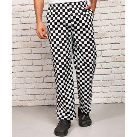 Pantalon de cuisine, taille élastique, 195 g/m²