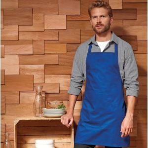 Tablier de cuisine à bavette court sans poches, 195 g/m²