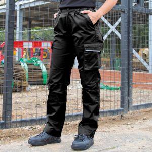 Pantalon de travail Action pour femme, poche cargo multifonctions