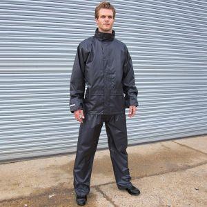 Ensemble imperméable veste et pantalon coupe-vent avec capuche