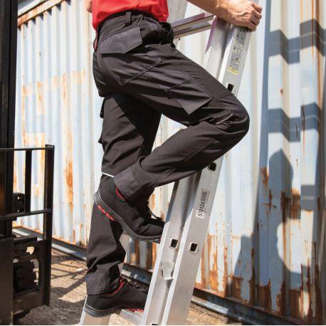Pantalon de travail softshell coupe slim respirant multi-poches