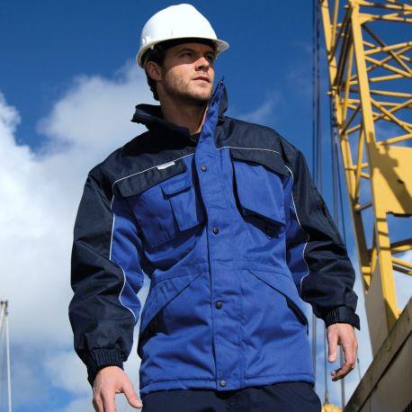 Veste de travail parka résistante hydrofuge, coupe-vent, imperméable