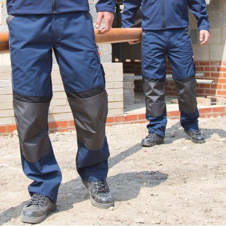 Pantalon de travail technique, poches externes pour genouillère