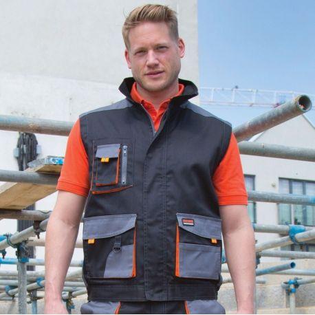 Bodywarmer de protection professionnelle coupe-vent et imperméable