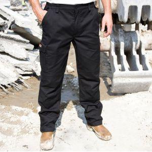 Pantalon stretch de travail renforcé, coupe-vent avec multi-poches
