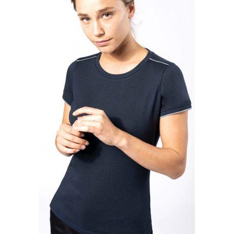 T-shirt manches courtes femme DAYTODAY, lavable à 60°c, 190 g/m²