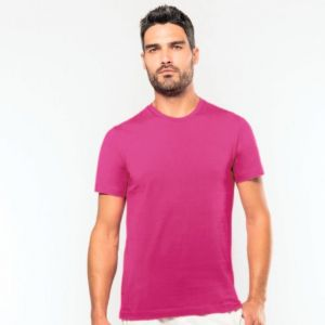 T-shirt homme col rond à manches courtes, 180 g/m²