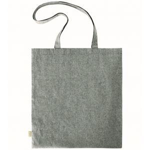 Sac à provision anses longues en coton recyclé, 140 g/m²