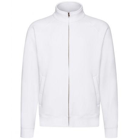 Veste sweat premium homme zippée sans capuche, 280 g/m²