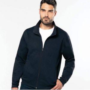 Veste molleton zippée homme sans capuche, 280 g/m²