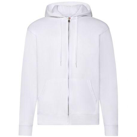 Sweat classique pour adulte zippé à capuche doublée, 280 g/m²