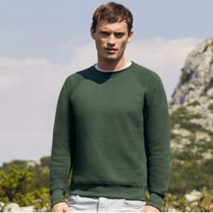 Sweat-shirt classique manches raglan en polycoton, 280 g/m²