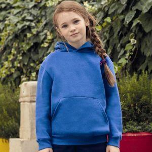 Sweat enfant premium à capuche doublée avec poche kangourou, 280 g/m²