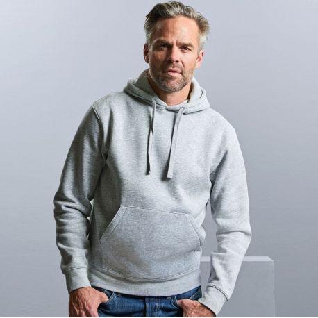 Sweat homme hoodie à capuche doublée, accès MP3, 280 g/m²