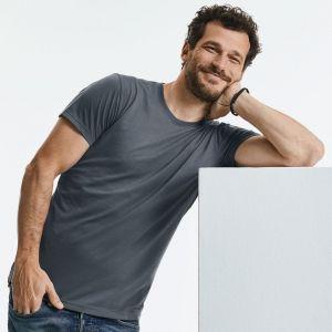 T-shirt homme col rond en polycoton conçu pour l'impression sublimation, 160 g/m²