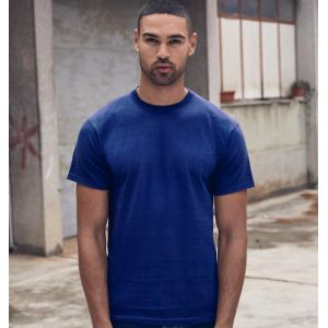 T-shirt heavy en coton lourd col rond, manches courtes, 195 g/m²