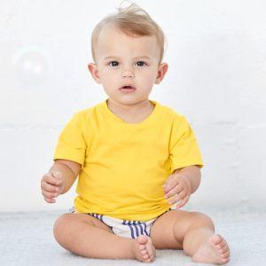 T-shirt bébé manches courtes en coton doux et confortable, 145 g/m²