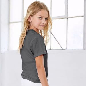 T-shirt enfant manches courtes coton doux et confortable, 145 g/m²