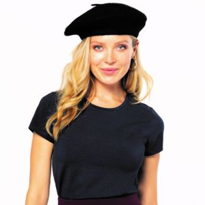 T-shirt femme col rond stretch en coton élasthanne, 160 g/m²