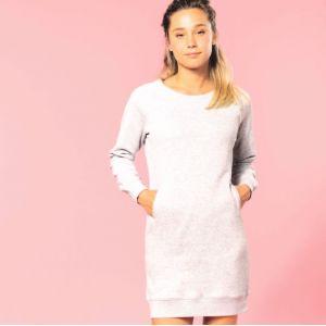 "Sweat robe lounge pour femme en coton bio ""No Label"", 270 g/m²"