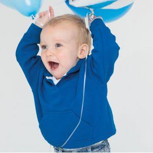 Sweat bébé à capuche avec  poche kangourou, 280 g/m²