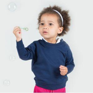 Sweat bébé set-in avec boutons-pression sur les épaules, 280 g/m²