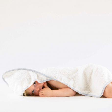 Cape de bain bébé ultra doux avec capuche en coton, 360 g/m²