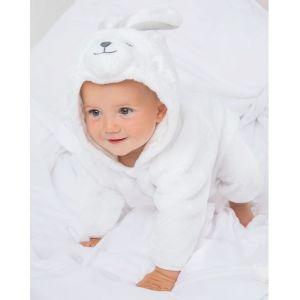 Combinaison lapin ultra douce pour bébé à capuche, 160 g/m²