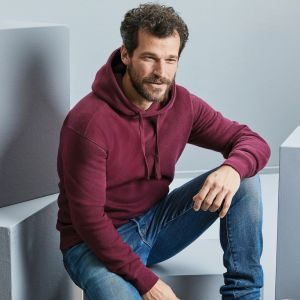 Sweat-shirt à capuche homme chiné authentique et moderne, 280 g/m²