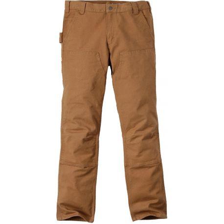 Pantalon CARHARTT stretch en coton taille basse multi-poches