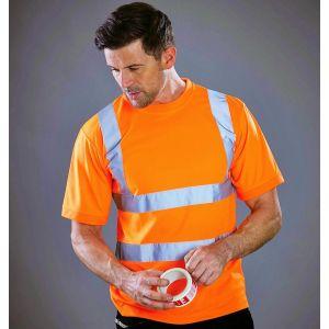 T-shirt de sécurité col rond avec bandes réfléchissantes