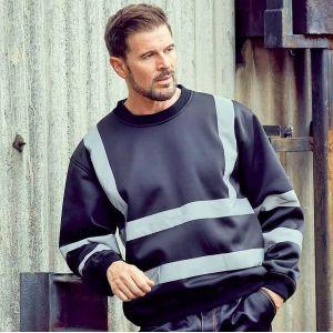 Sweat-shirt de sécurité haute visibilité  avec bandes réfléchissantes