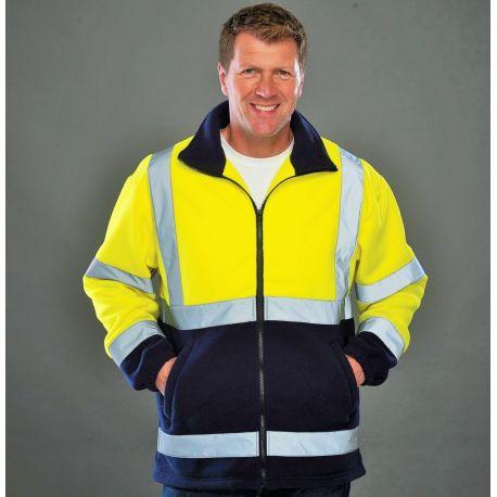 Veste polaire de sécurité Hi-Vis avec col montant confortable, 380 g/m²