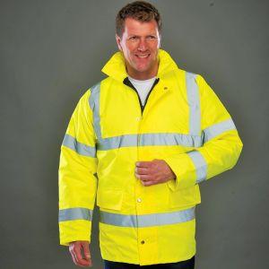 Veste parka de sécurité haute visibilité avec capuche intégrée