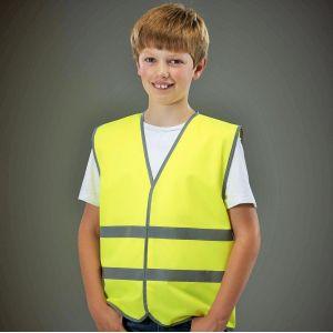 Gilet de sécurité pour enfant avec bordures et bandes réfléchissantes