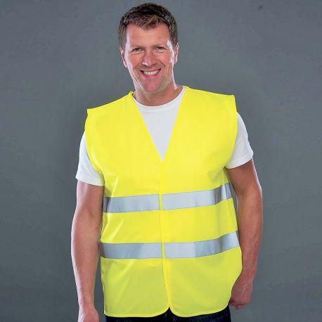Gilet de sécurité pour adulte avec bordures et bandes réfléchissantes