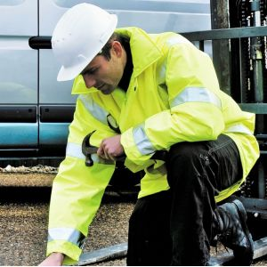 Veste parka de sécurité haute visibilité, respirant et imperméable