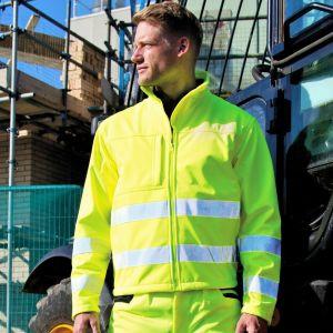 Veste softshell de sécurité Haute Visibilité respirante 6 poches