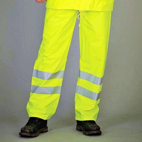 Pantalon de pluie de sécurité respirant Hi-Vis Soft Flex