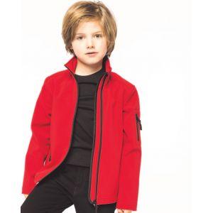 Veste softshell 3 couches respirant et imperméable pour enfant
