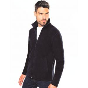 Veste micropolaire homme zippée sans capuche, 2 poches zippées