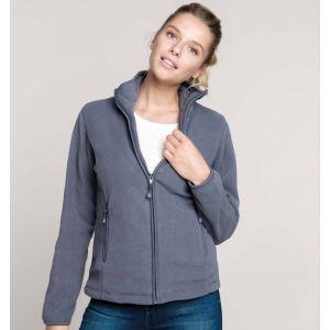 Veste micropolaire femme zippée sans capuche, 2 poches zippées