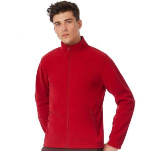 Veste micro-polaire homme zippée ton sur ton, 280 g/m²