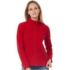 Veste micro-polaire femme zippée ton sur ton, 280 g/m²