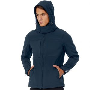 Veste softshell homme haute performance à fermeture éclair, 340 g/m²