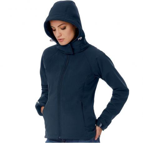 Veste softshell femme haute performance à fermeture éclair, 340 g/m²