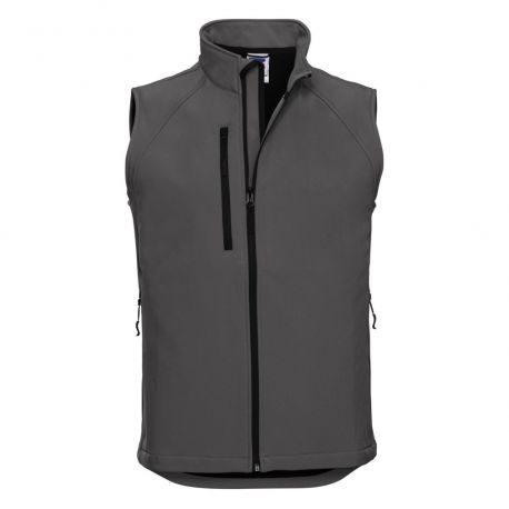 Gilet bodywarmer homme softshell respirant et imperméable, 340 g/m²