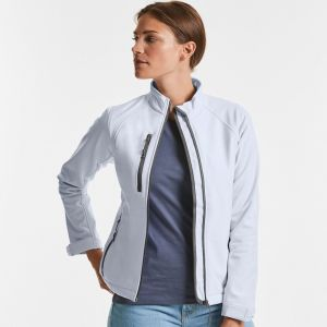 Veste femme softshell respirant et imperméable, 340 g/m²