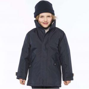 Parka enfant avec capuche dans le col doublé polaire, 450 g/m²